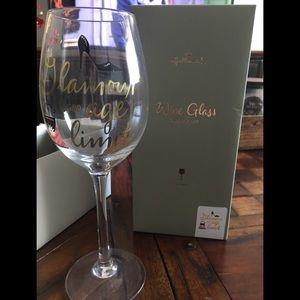 """Glamour has no age limit"" Hallmark Wine Glass 🍷"